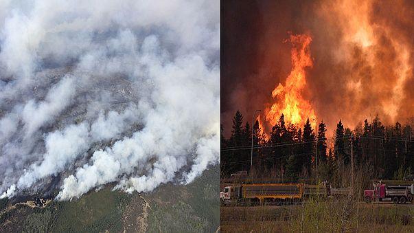 Mindenki menekül a tűzvész elől Kanadában
