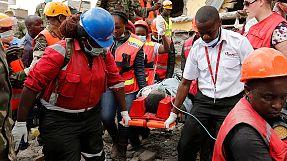 Rescatada tras pasar seis días bajo los escombros de un edificio derrumbado en Kenia