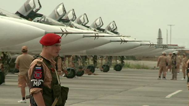 Work at the Russian airbase Hmeymim in Latakia to advance the truce in Syria