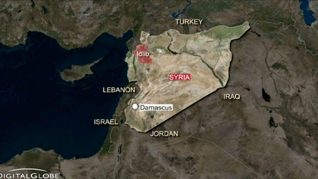 Un camp de réfugiés bombardé en Syrie