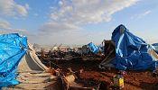 Air strike kills dozens in Syrian refugee camp
