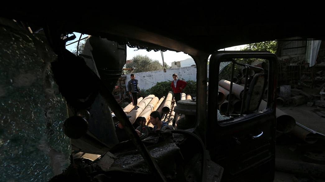 Funeral por la palestina muerta tras disparos de un tanque israelí en el sur de Gaza