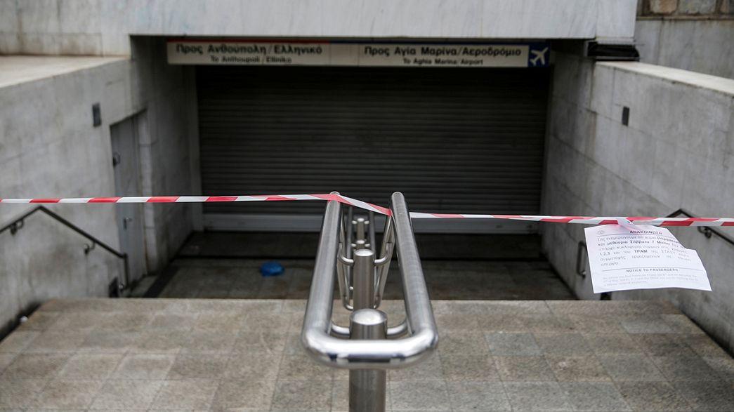 Streiks wegen geplanten Sparprogramms und Rentenkürzungen legen Griechenland lahm