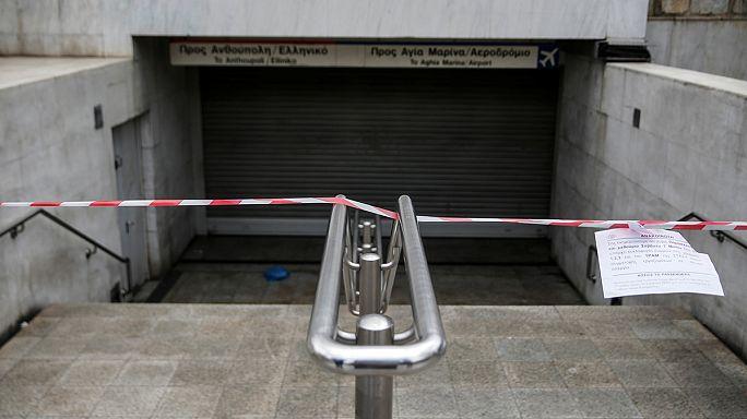 Yunanistan'da genel grev var