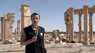 Clearing mines from the ancient site of Palmyra with restoration work ongoing