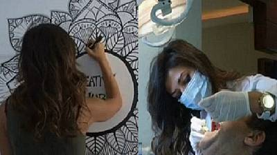 Cairo's doodling dentist cashing-in on her passion for art
