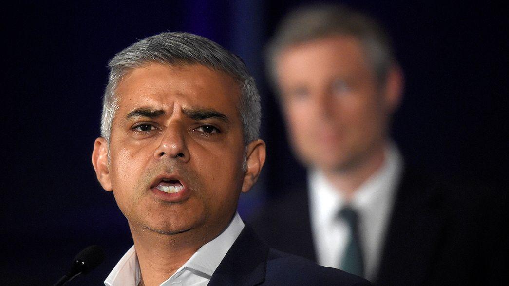 Sadiq Khan makes history as elected London mayor after bruising campaign