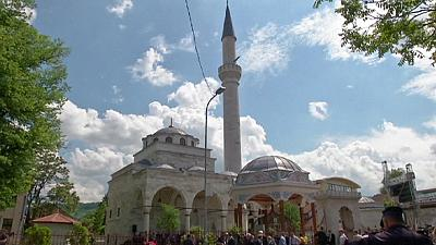 Historic mosque re-opens, 23 years after being destroyed in the Bosnian war