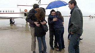 وصول 3 صحفيين اختطفوا في سوريا العام الماضي إلى اسبانيا