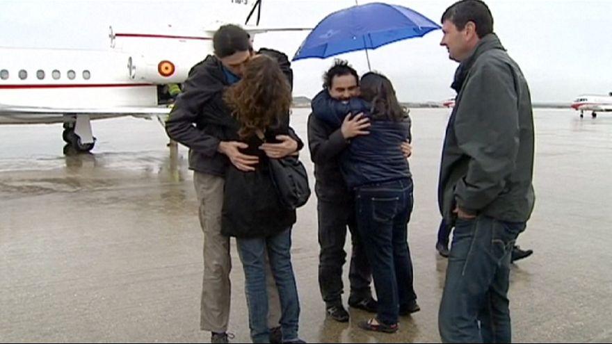Trois journalistes enlevés en Syrie de retour en Espagne