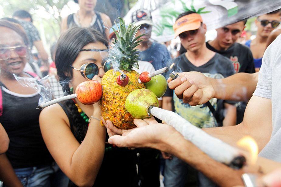 Marche pour le cannabis en Colombie