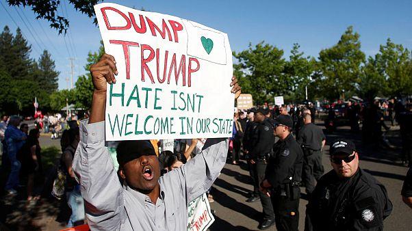 Орегон: сторонники и противники Трампа едва не подрались