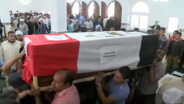 Egypt: Funeral for eight policemen shot dead in Cairo