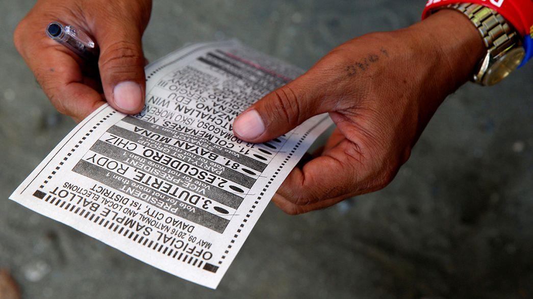Presidential vote underway in the Philippines