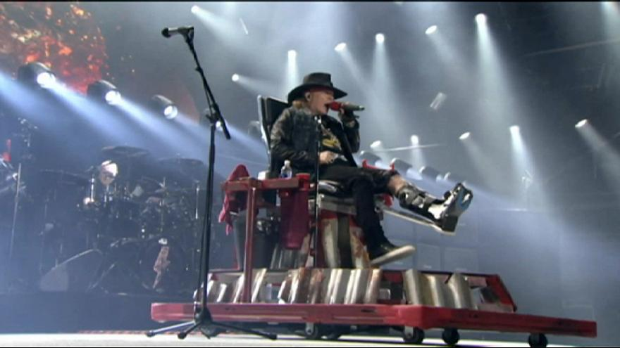 Axl Rose on the Highway to Hell