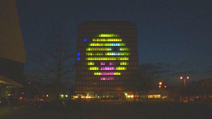 Ces jeunes allemands ont transformé un immeuble en Tetris géant
