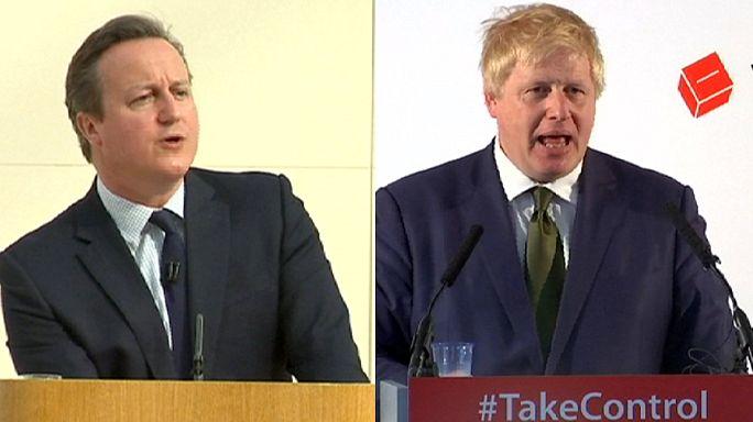 """""""Brexit"""": Guerra de argumentos entre David Cameron e Boris Johnson"""