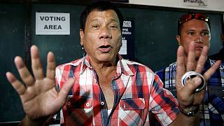 Outspoken mayor Duterte leads Philippines presidential vote in early count