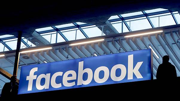 Image: FILE PHOTO: Facebook logo is seen  at a start-up companies gathering