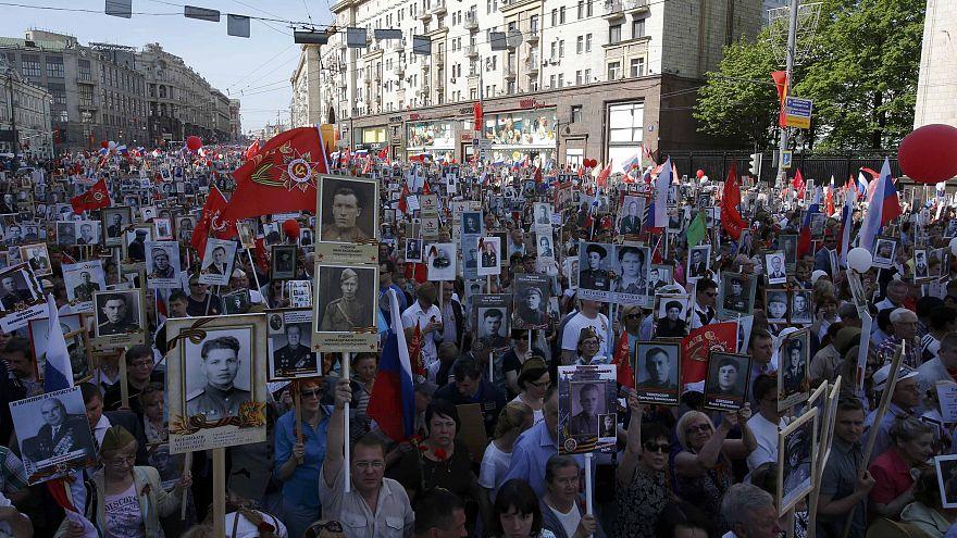 Marchas multitudinarias en Rusia y Ucrania en el Día de la Victoria sobre la Alemania nazi