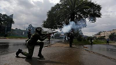 Police fire tear gas to disperse protest against Kenya's election body
