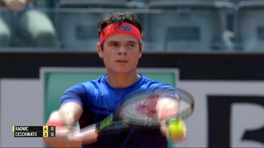 پیروزی مدعیان در نخستین مرحله مسابقات تنیس رم