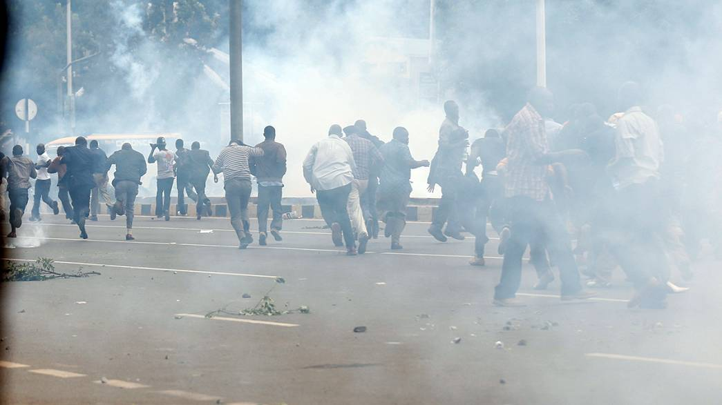 Kenyan police fire tear gas at protesters calling for electoral body to resign