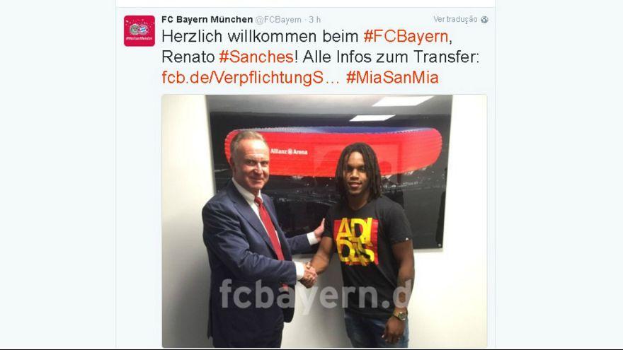 """Renato Sanches no Bayern: """"É um médio dinâmico, dotado e defende bem"""""""