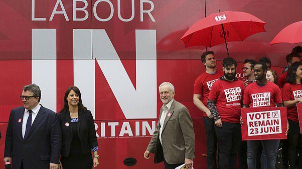 Le travailliste Jeremy Corbyn lance sa campagne pour le maintien du Royaume-Uni dans l'UE