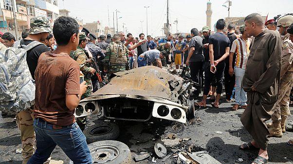 Al menos 64 muertos en un atentado cerca de un mercado en Bagdad