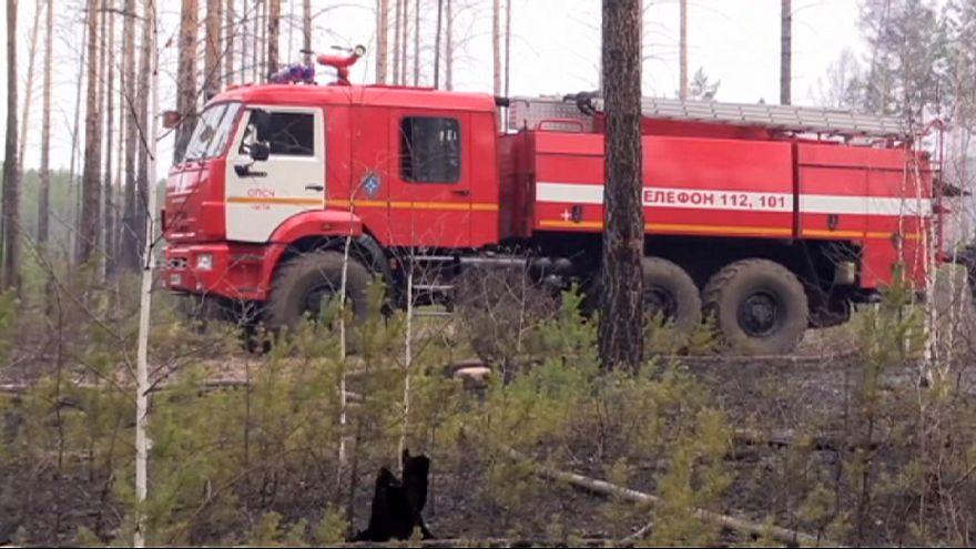 Fogos florestais na Rússia