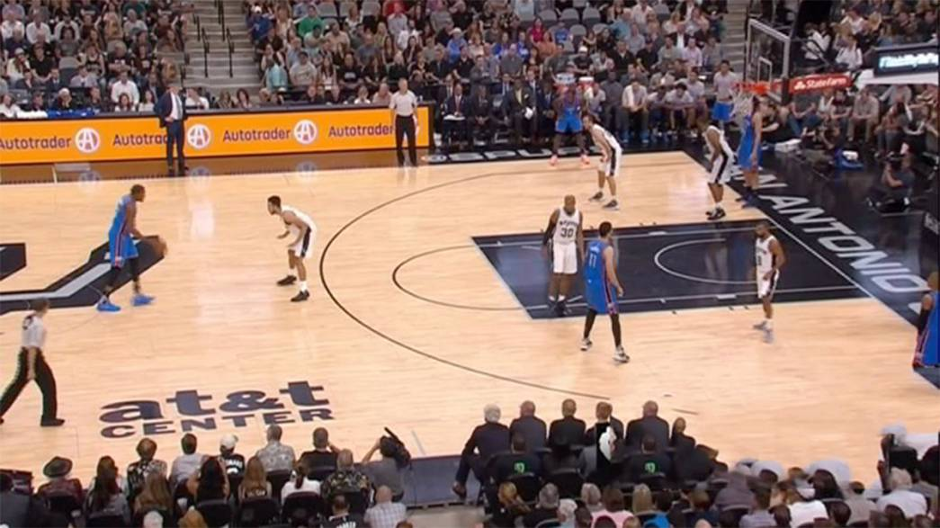Thunder claps ring out over San Antonio in the NBA playoffs