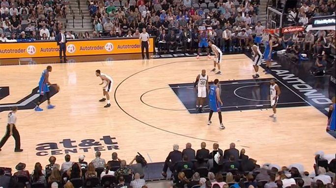 NBA : Oklahoma s'impose à San Antonio