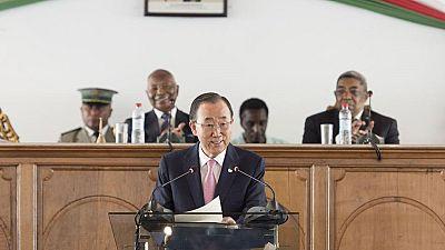 En visite à Madagascar, Ban Ki-moon se dit préoccupé par la pauvreté