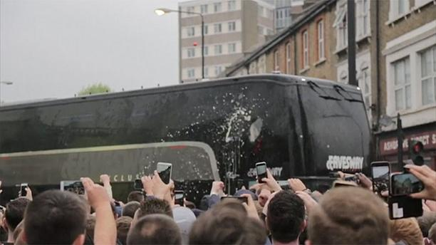 Man United bus attack sours West Ham party night