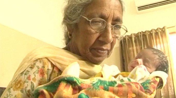 72 yaşındaki kadın doğum yaptı