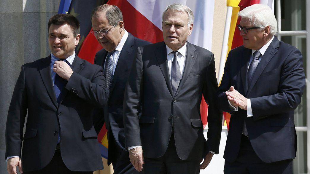 Mageres Ergebnis in der 12. Ukraine Verhandlungsrunde in Berlin