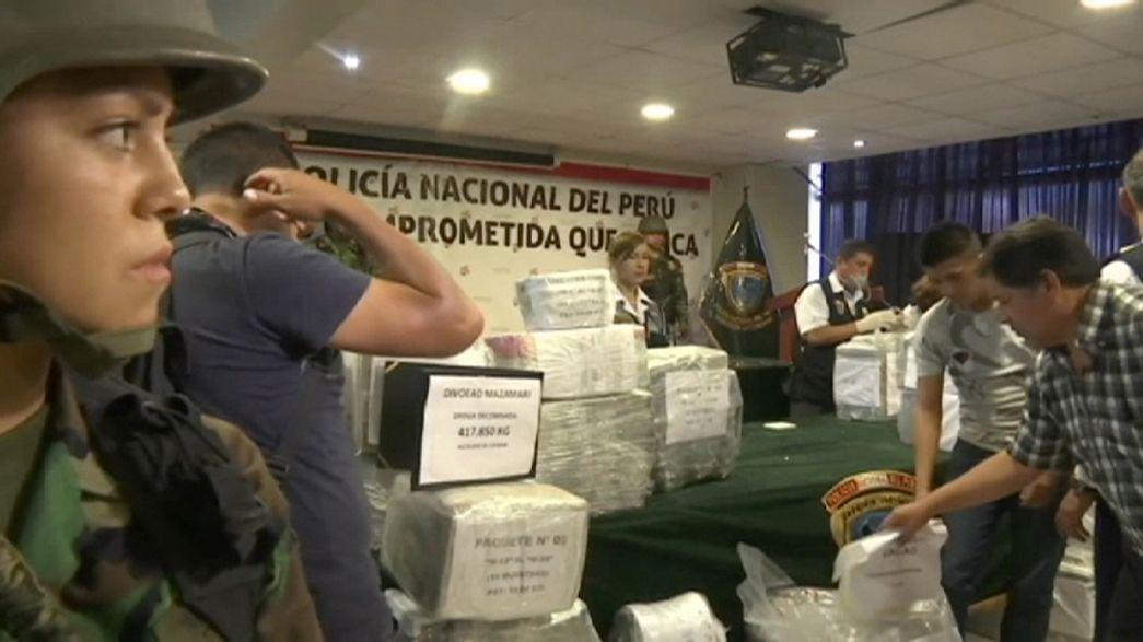 Eine Tonne Kokain: Ausbeute von Razzien der peruanischen Polizei