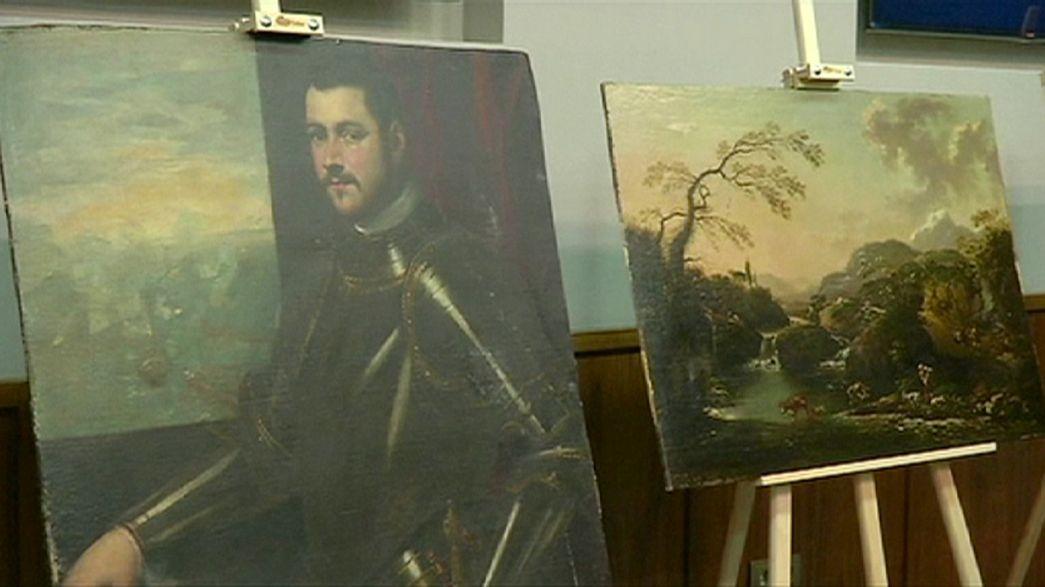 Des tableaux de la renaissance retrouvés en Ukraine dans des sacs en plastique