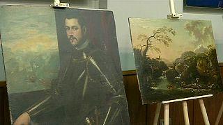 İtalya'da çalınan tablolar Ukrayna'da çıktı