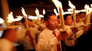 Северная Корея: факельный марш