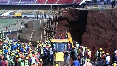 Two workers dead in Cameroon stadium collapse
