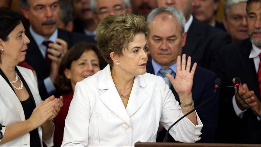 'I will never give up' says Dilma Rousseff following suspension as Brazilian president