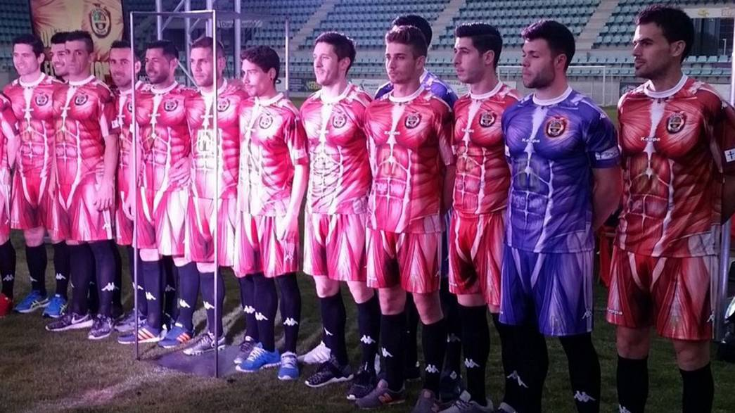 Spanish football club CD Palencia unveil 'inside out' kit