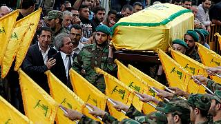 Hundreds attend Beirut funeral for Hezbollah commander