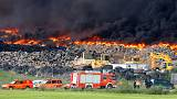 Toxic tyre fire forces evacuation of 9,000 near Madrid