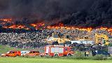 Égő gumik füstje miatt evakuáltak 9 ezer embert Spanyolországban