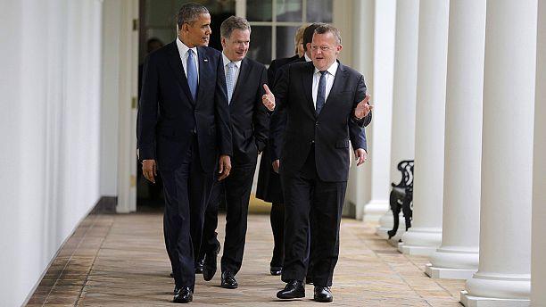 Obama e líderes nórdicos encontram-se em Washington com Putin na mira