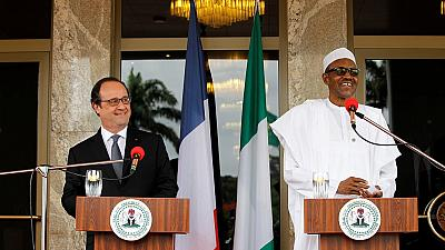 President Hollande in Nigeria for a security summit