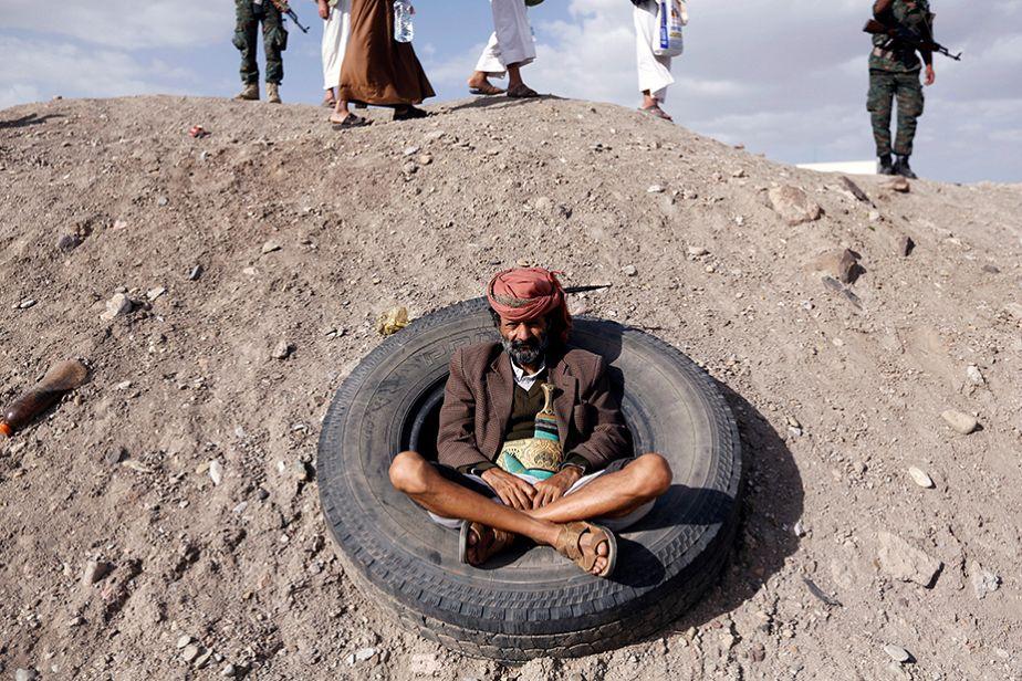 En regardant passer les manifestants au Yemen...